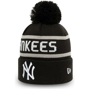 Gorro preto com pompom Cuff Knit Jake da New York Yankees MLB da New Era