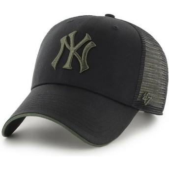 Boné trucker preto com logo verde MVP Dagwood da New York Yankees MLB da 47 Brand