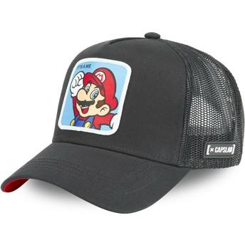 Boné trucker preto Mario CLA2 Super Mario Bros. da Capslab