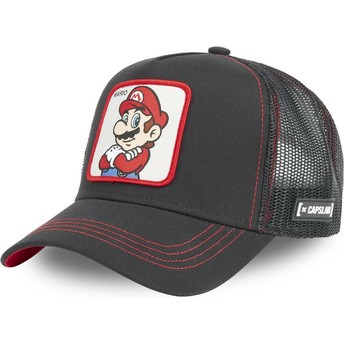 Boné trucker preto Mario SMB MAR2 Super Mario Bros. da Capslab