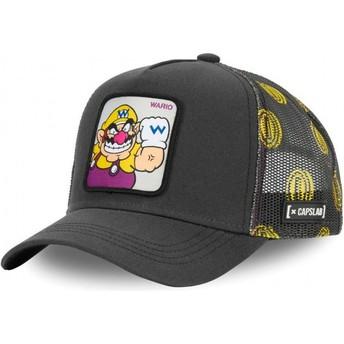 Boné trucker cinza Wario WAR Super Mario Bros. da Capslab