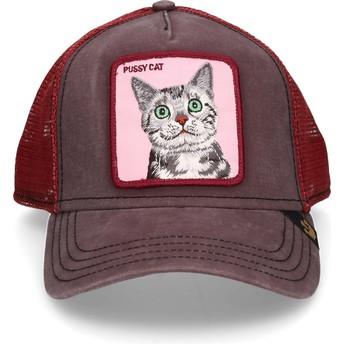 Boné trucker castanho gato Whiskers da Goorin Bros.
