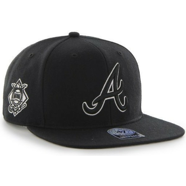 bone-plano-preto-snapback-dos-atlanta-braves-mlb-sure-shot-da-47-brand