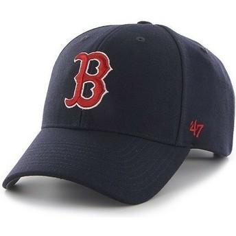Boné curvo azul marinho com logo vermelho dos Boston Red Sox MLB Clean Up da 47 Brand