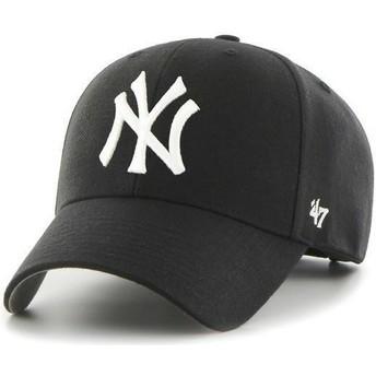 Boné curvo preto dos New York Yankees MLB da 47 Brand