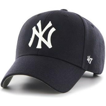 Boné curvo azul marinho dos New York Yankees MLB da 47 Brand