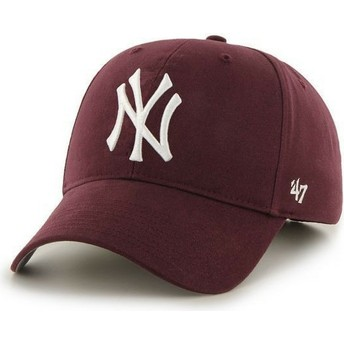 Boné curvo grená dos New York Yankees MLB da 47 Brand