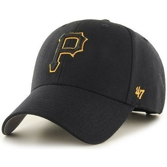 Boné curvo preto dos Pittsburgh Pirates MLB da 47 Brand