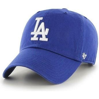 Boné curvo azul dos Los Angeles Dodgers MLB Clean Up da 47 Brand