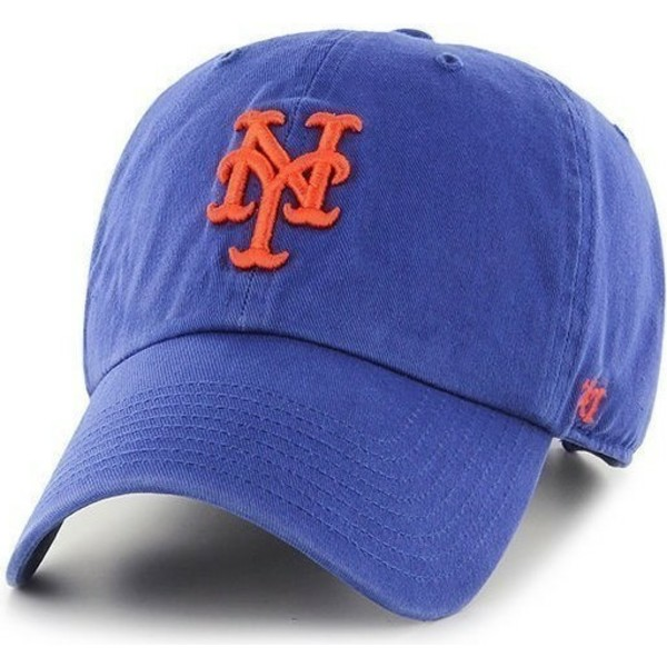 bone-curvo-azul-dos-new-york-mets-mlb-clean-up-da-47-brand