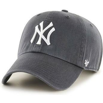 Boné curvo cinza dos New York Yankees MLB Clean Up da 47 Brand