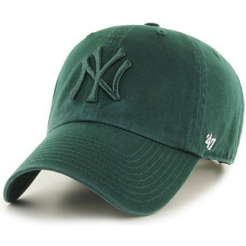 bone-curvo-verde-com-logo-verde-dos-new-york-yankees-mlb-clean-up-da-47-brand