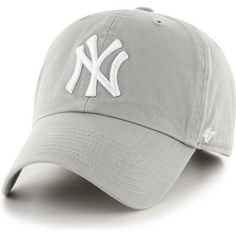 bone-curvo-cinza-dos-new-york-yankees-mlb-clean-up-da-47-brand