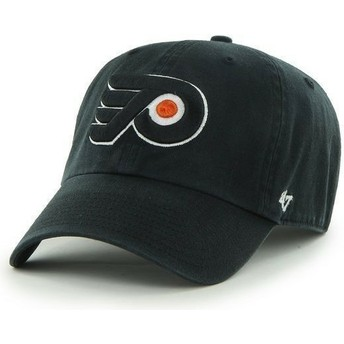 Boné curvo preto dos Philadelphia Flyers NHL Clean Up da 47 Brand