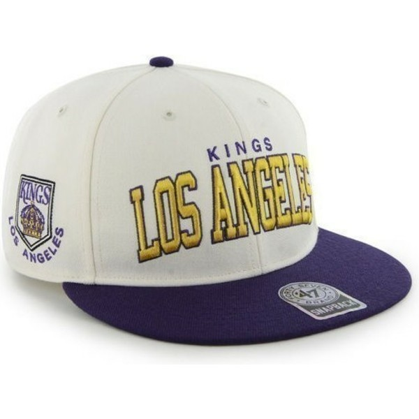 bone-plano-branco-e-azul-snapback-dos-los-angeles-kings-nhl-da-47-brand