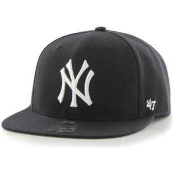 Boné plano azul marinho escuro snapback liso dos MLB New York Yankees da 47 Brand