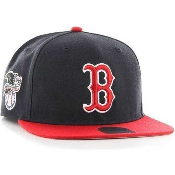 bone-plano-azul-marinho-snapback-dos-mlb-boston-red-sox-da-47-brand