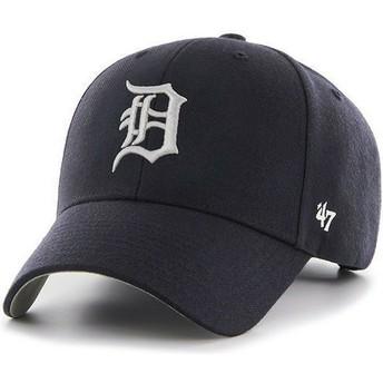 Boné curvo azul marinho lisa dos MLB Detroit Tigers da 47 Brand