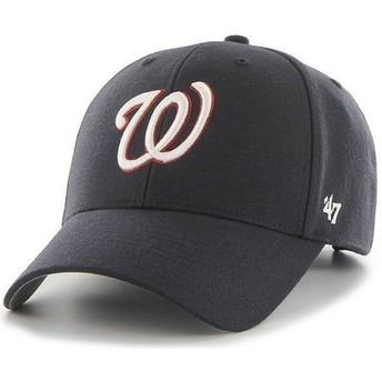Boné curvo azul marinho lisa dos NHL Washington Nationals da 47 Brand