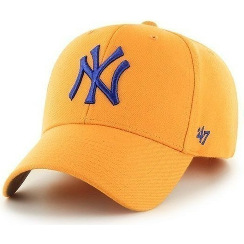 bone-curvo-amarela-lisa-dos-mlb-new-york-yankees-da-47-brand