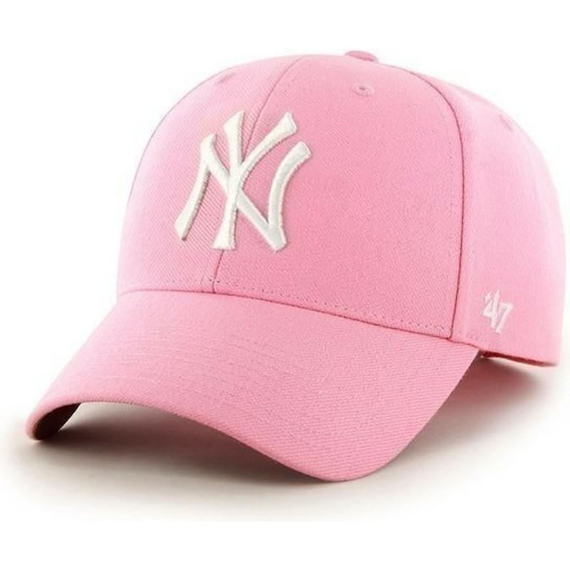 1be486f6f27ac Boné curvo rosa lisa dos MLB New York Yankees da 47 Brand  comprar ...