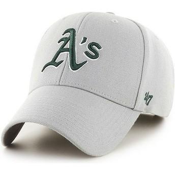 Boné curvo cinza lisa dos MLB Oakland Athletics da 47 Brand