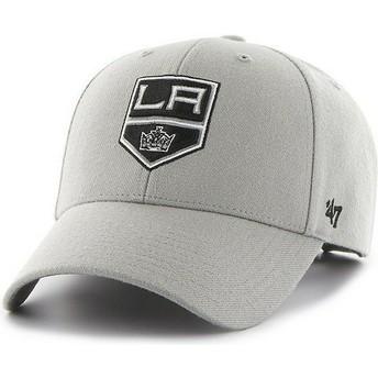 Boné curvo cinza dos NHL Los Angeles Kings da 47 Brand