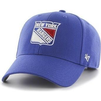 Boné curvo azul dos NHL New York Rangers da 47 Brand