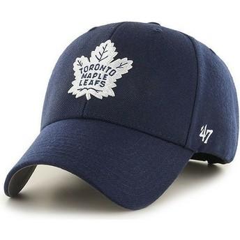 Boné curvo azul marinho dos NHL Toronto Maple Leafs da 47 Brand