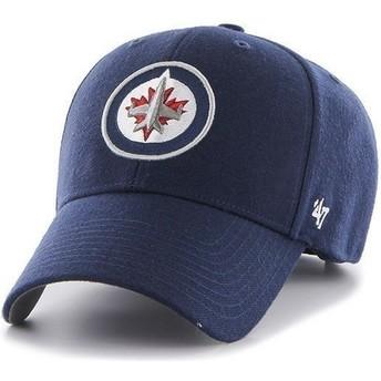 Boné curvo azul marinho dos NHL Winnipeg Jets da 47 Brand