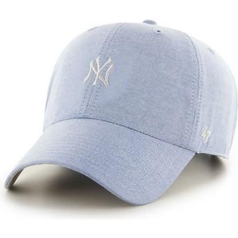 Boné curvo azul com logo pequeno dos MLB New York Yankees da 47 Brand