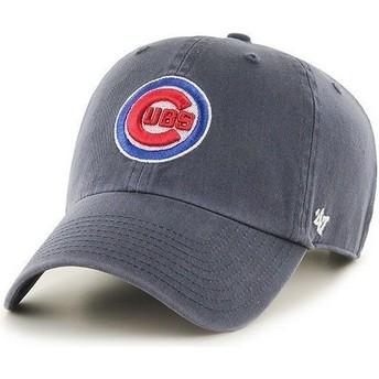 Boné curvo azul marinho com logo frontal dos MLB Chicago Cubs da 47 Brand