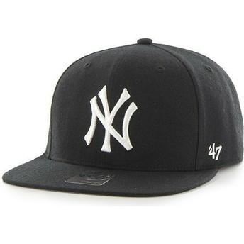 Boné plano preto snapback para criança dos New York Yankees MLB da 47 Brand