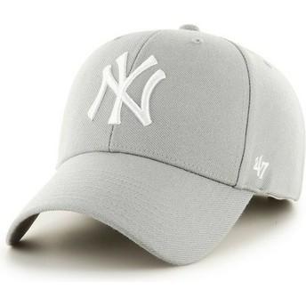Boné curvo cinza dos New York Yankees MLB da 47 Brand