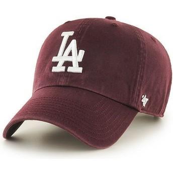 Boné curvo grená dos Los Angeles Dodgers MLB Clean Up da 47 Brand