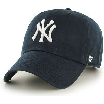 Boné curvo azul marinho dos New York Yankees MLB Clean Up da 47 Brand