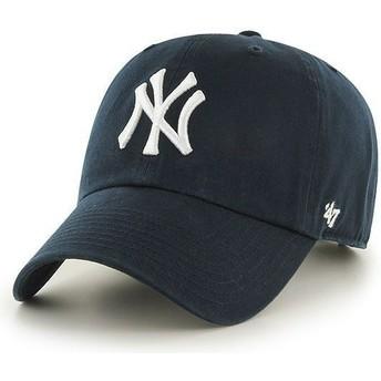Boné curvo azul marinho dos New York Yankees MLB Clean Up da 47 Brand
