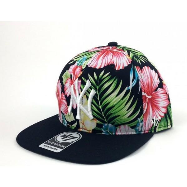 bone-plano-multicolor-snapback-com-estampado-de-flores-dos-new-york-yankees-mlb-da-47-brand