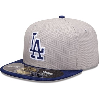 Boné plano azul justo 59FIFTY Diamond Era dos Los Angeles Dodgers MLB da New Era