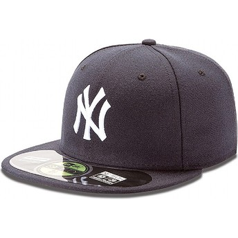 Boné plano azul marinho justo 59FIFTY Authentic On-Field dos New York Yankees MLB da New Era