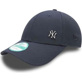 Boné curvo azul marinho ajustável 9FORTY Flawless Logo dos New York Yankees MLB da New Era
