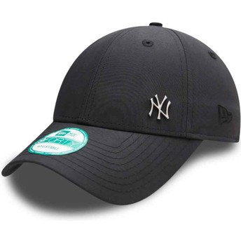 Boné curvo preto ajustável 9FORTY Flawless Logo dos New York Yankees MLB da New Era
