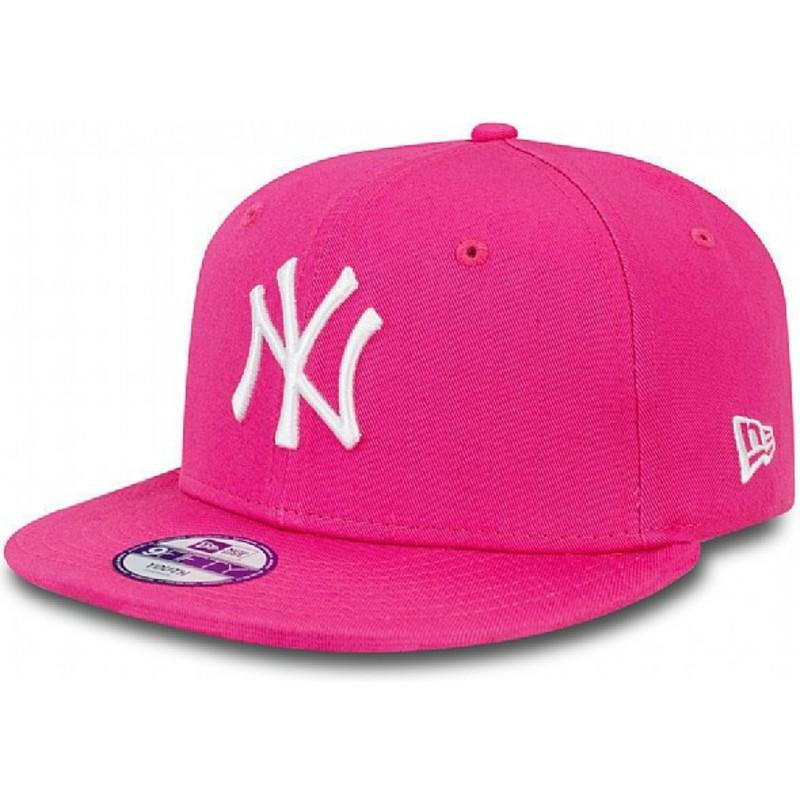 ... York Yankees MLB da New Era. bone-plano-rosa-snapback-para-crianca- 9fifty-essential- 05243e6769d