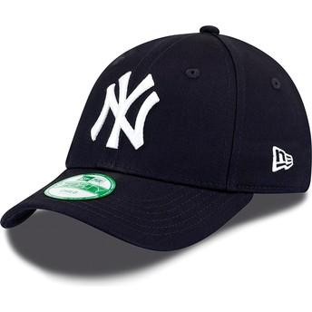 Boné curvo azul marinho ajustável para criança 9FORTY Essential dos New York Yankees MLB da New Era