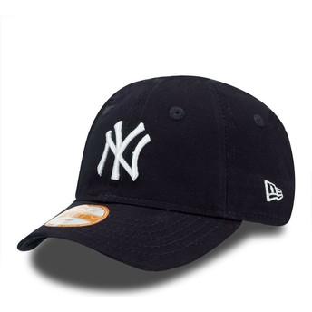Boné curvo azul ajustável para criança 9FORTY Essential dos New York Yankees MLB da New Era